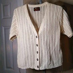 VTG crocheted sweater